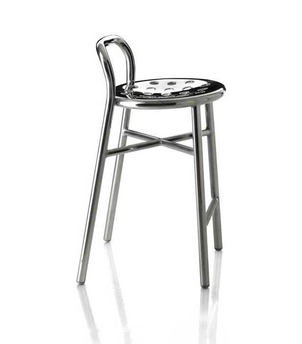 Alu Barhocker magis pipe stool barhocker design jasper morrison