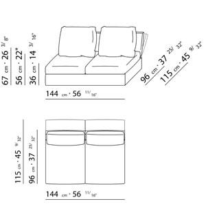 Flexform sunny for Sofa zeichnung