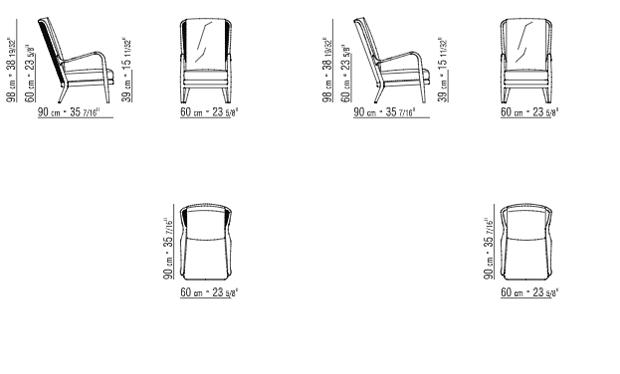Sessel skizze  Flexform - AGAVE Sessel (design Antonio Citterio 2016)