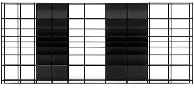 schranksystem offen unten offen und beleuchtetes. Black Bedroom Furniture Sets. Home Design Ideas