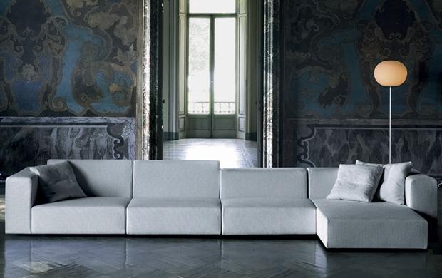 Living divani wall sofa design piero lissoni for Living divani softwall