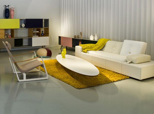 vitra polder sofa leder design hella jongerius 2005 06. Black Bedroom Furniture Sets. Home Design Ideas
