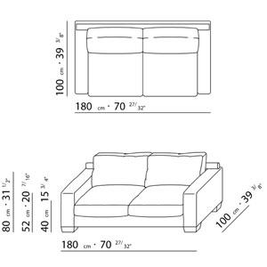 Flexform status sofa design antonio citterio 1996 for Couch zeichnen