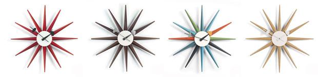 vitra sunburst wall clock eiche design george nelson. Black Bedroom Furniture Sets. Home Design Ideas