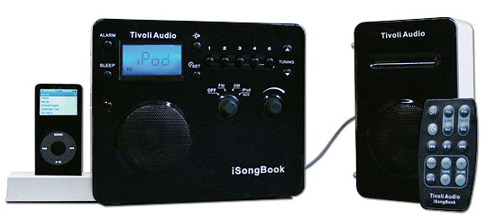 tivoli audio isongbook tragbares hifiger t mit ipod. Black Bedroom Furniture Sets. Home Design Ideas