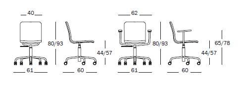 Bürostuhl skizze  Magis Soho (design Naoto Fukasawa)