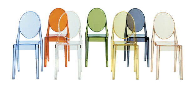 KARTELL - VICTORIA GHOST Stapelstuhl (design: Philippe Starck)