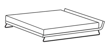 Bett strichzeichnung  MDF Italia - Eleen Bett