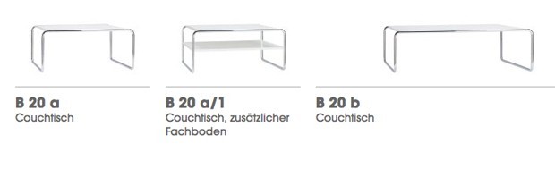Thonet B 20 Couchtische Designthonet Design Team 2009