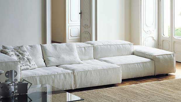 LIVING DIVANI - EXTRASOFT Sofa (design: Piero Lissoni, 2008)