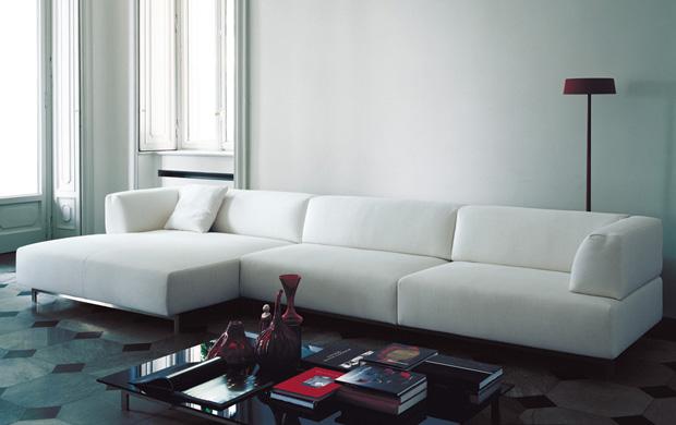 living divani metro sofa design piero lissoni. Black Bedroom Furniture Sets. Home Design Ideas