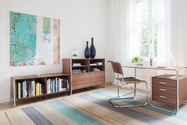 thonet s 285 2 stahlrohr schreibtisch design marcel breuer. Black Bedroom Furniture Sets. Home Design Ideas
