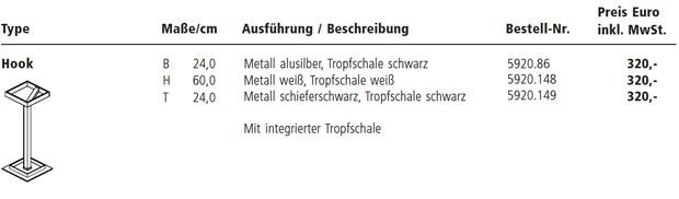 Sch nbuch hook design justus kolberg for Rimadesio preise