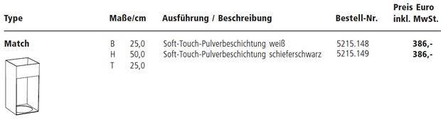 Sch nbuch match design jehs laub for Rimadesio preise